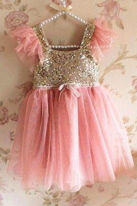 Cute Pink Sequin Dress - Little Dress Up