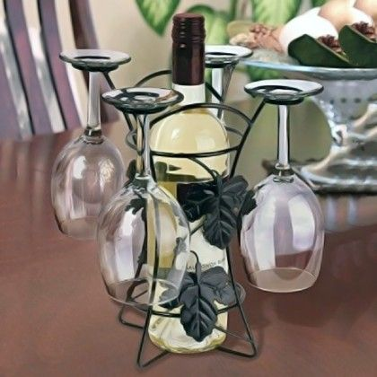Wine Bottle And Glass Holder - HitPlay