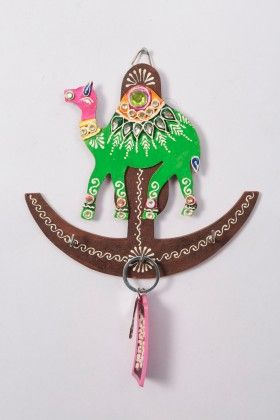 Key Holder Anchor Camel Green - Color Crave