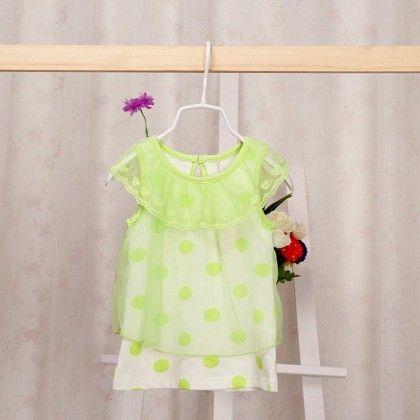 Florescent Green Baby Dress - Petite Kids
