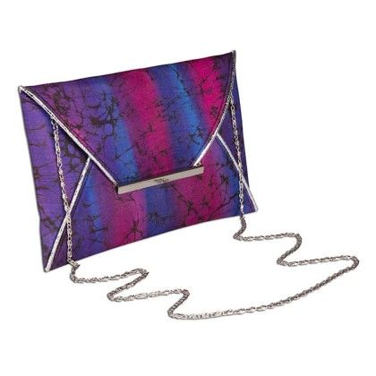 Purple Berry Tiedye Envelope Hand Bag - Arancia