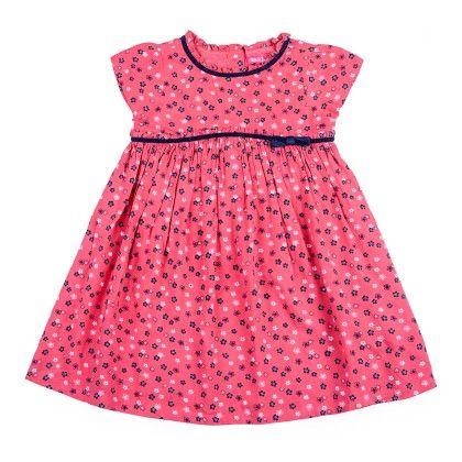 Ditsy Print Dress With Stylized Empire Line And Cap Sleeve - Nauti Nati