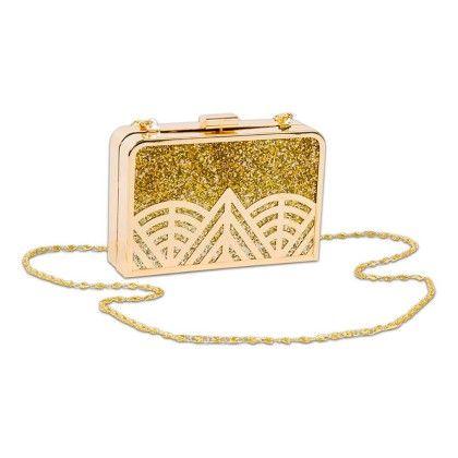 Gold Geometric Hand Bag - Arancia