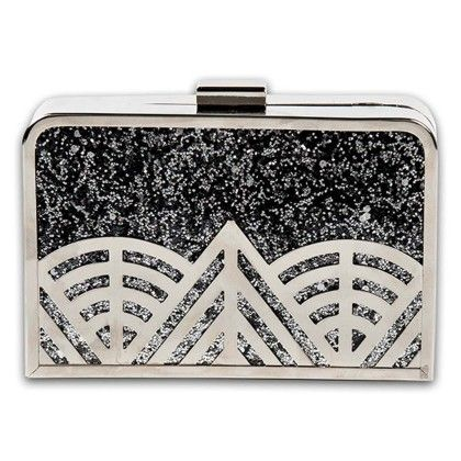 Silver Geometric Hand Bag - Arancia