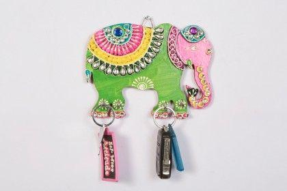 Key Holder Elephant Green - Color Crave