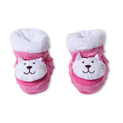 Ole Baby Soft Furry 3d Ole Toons Shoes-pink