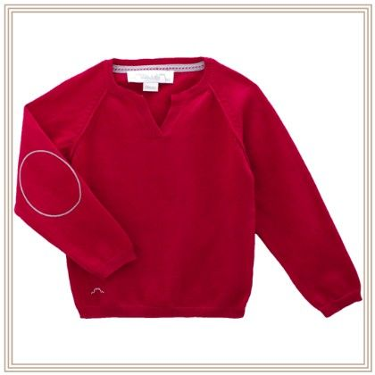 Eliza Long Sleeve Sweater With Wing Red - Chateau De Sable