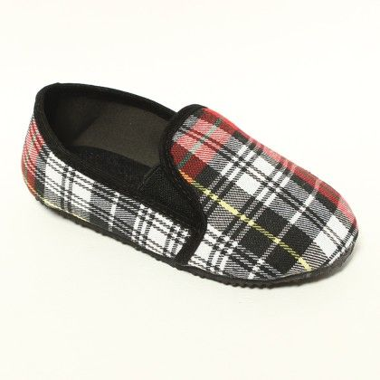 Red, Black And White Checks - Gift Shoes