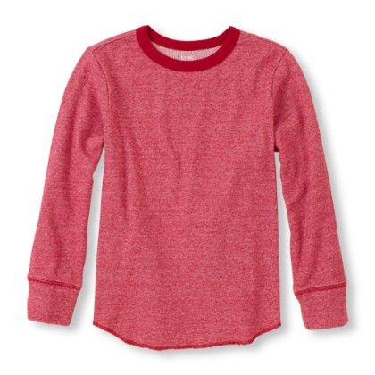 Long Sleeve Crew Neck Knit Top -classicred - The Children's Place