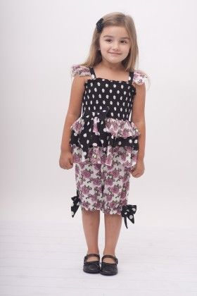 Black Polka Dot 3 Layer Top With Bloomers - Jelly The Pug