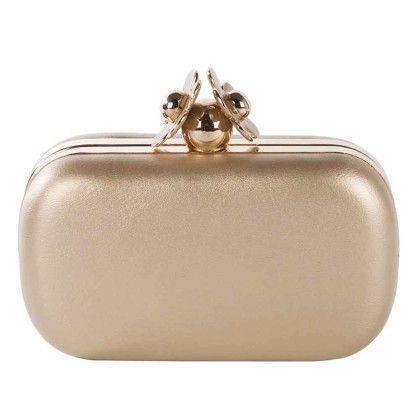 Gold Daisy Box Hand Bag - Arancia