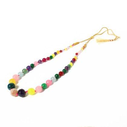 Contemporary Styled Multi Colored Necklace - Latitude - The Design Studio