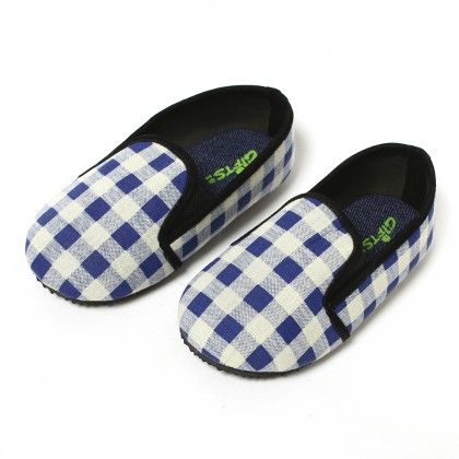Blue And White Checks - Gift Shoes