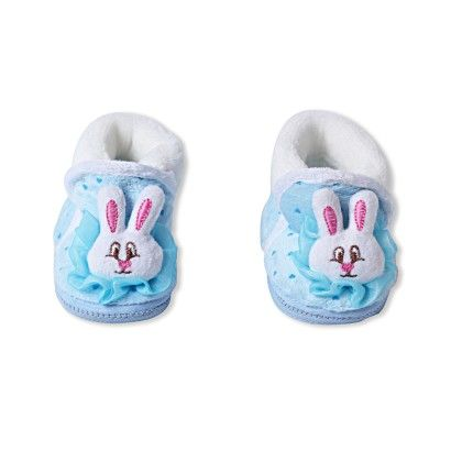 Ole Baby Soft Furry 3d Ole Toons Booties Blue