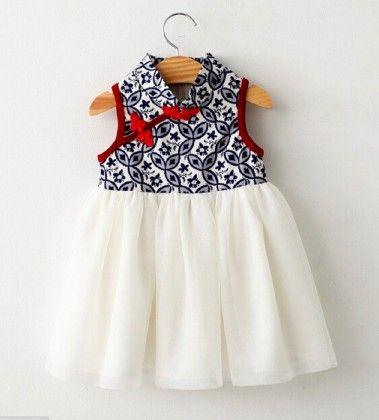 Cheongsam Mesh Dress - Petite Kids