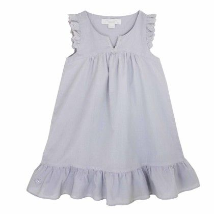 Constantine Lace Trimmed Nightdress Grey - Chateau De Sable