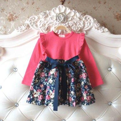 Autumn Floral Dress - Petite Kids