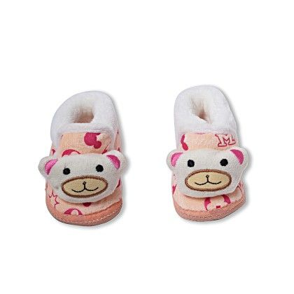 Ole Baby Soft Furry 3d Ole Toons Booties Beige