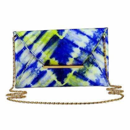English Pastels Tiedye Envelope Hand Bag - Arancia