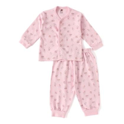 Pink Teddy With Car Print Full Sleeves Set - ZERO