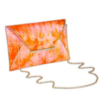 Cotton Candy Tiedye Envelope Hand Bag - Arancia