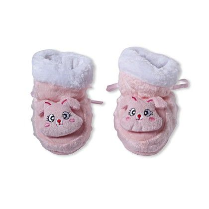 Ole Baby Soft Furry 3d Ole Toons Shoes Peach