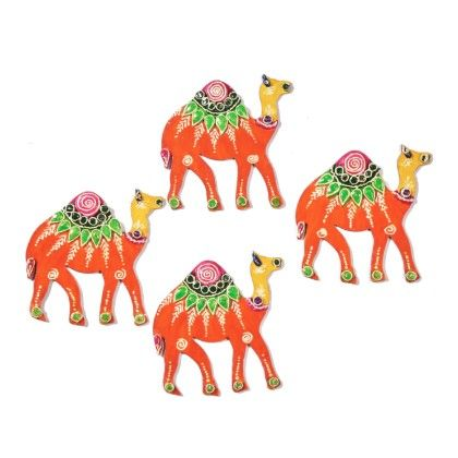 Colorfull Camel Floor Rangolli Set Of 8 - Color Crave