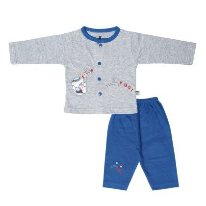 Boys Suit Grey & Blue - Mom's Pet