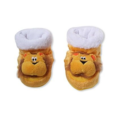 Ole Baby Soft Furry 3d Ole Toons Shoes - Yellow
