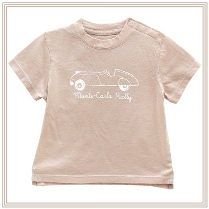 Auguste Boy T-shirt W/car Print Beige - Chateau De Sable