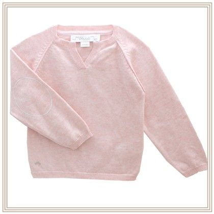 Eliza Long Sleeve Sweater With Wing Pink - Chateau De Sable