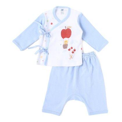 Blue Apple Parachute With Teddy Full Sleeves Set - ZERO