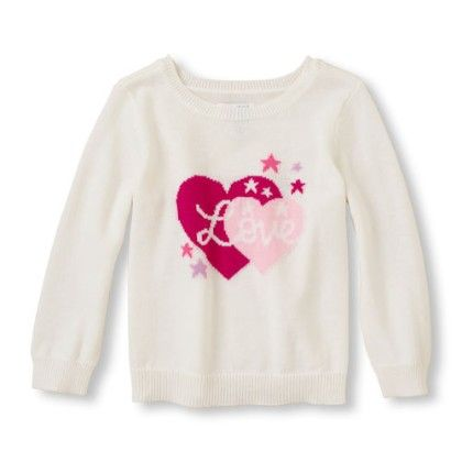 Long Sleeve Graphic Crew Neck Pullover - Cloud - The Children's Place