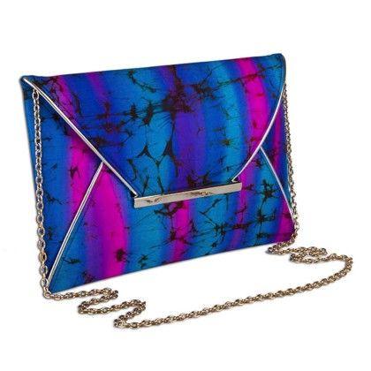 Blue Pink Tiedye Envelope Hand Bag - Arancia