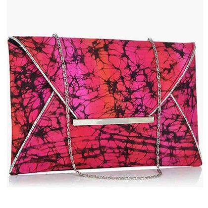 Hot Pink Tiedye Envelope Hand Bag - Arancia