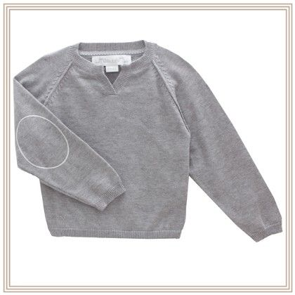Eliza Long Sleeve Sweater With Wing Grey - Chateau De Sable