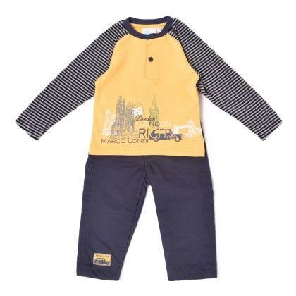 Set Of 2  Top & Pants Yellow - WWW