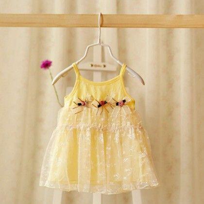 Yellow Sunshine Baby Dress - Petite Kids