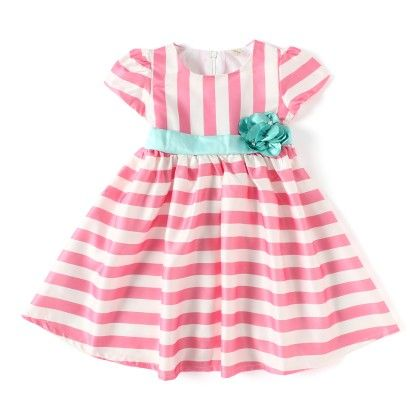 Pink And White Striped Dress - ChipChop