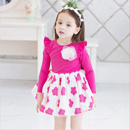 Pink & White Floral Printed Dress - Sassy Girl