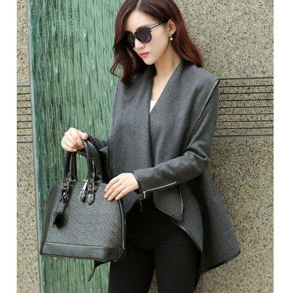 Wollen Coat Grey - STUPA FASHION