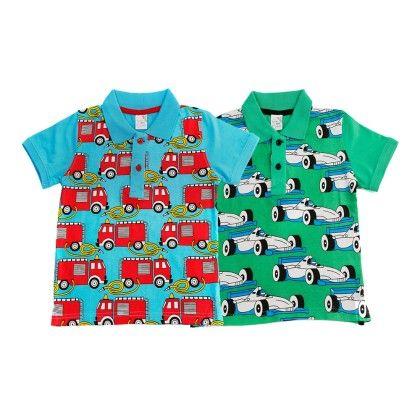 Blue & Green Kids T Shirt Combo Pack Of 2 - Huntler