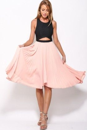 Black And Peach Dress - Enigma