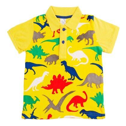 Yellow Polo Neck T Shirt - Huntler