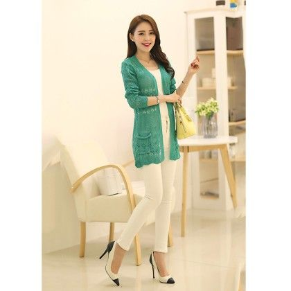 Thin Wool Shurg Green - STUPA FASHION