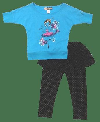 Toddler Short Legging Set-  Blue - Baby Ziggles