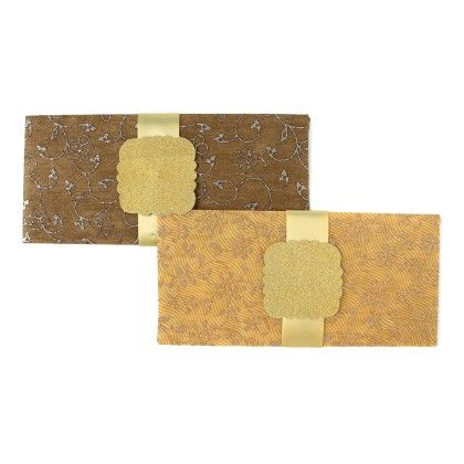Exclusive Printed Paper Envelopes With Tags - Pack Of 2 - Velvetise