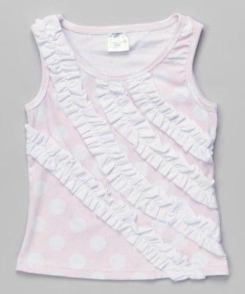 Baby Pink Polka Dot Sleeveless Top - Tutu And Lulu