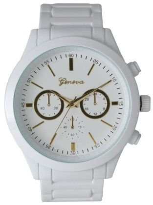 Vernier Women's Classic Feminine White Tone Bracelet Watch - Vernier Watches