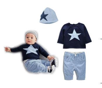 Three Pice Winter Baby Dress With Cap - Kids Fashionista